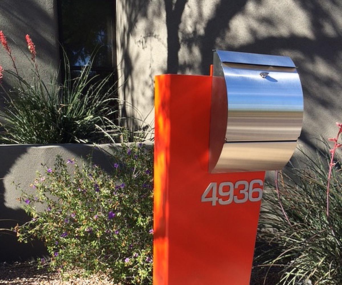 Well known Hansen Mailbox Unit- Modern Curbside Mailbox-Stainless Steel-Aluminum VZ05